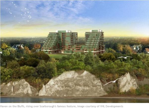 Haven on the Bluffs condos, Toronto by VHL Developments